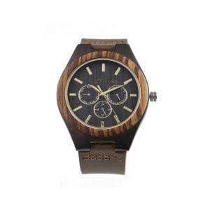 Reloj de madera Vesubio