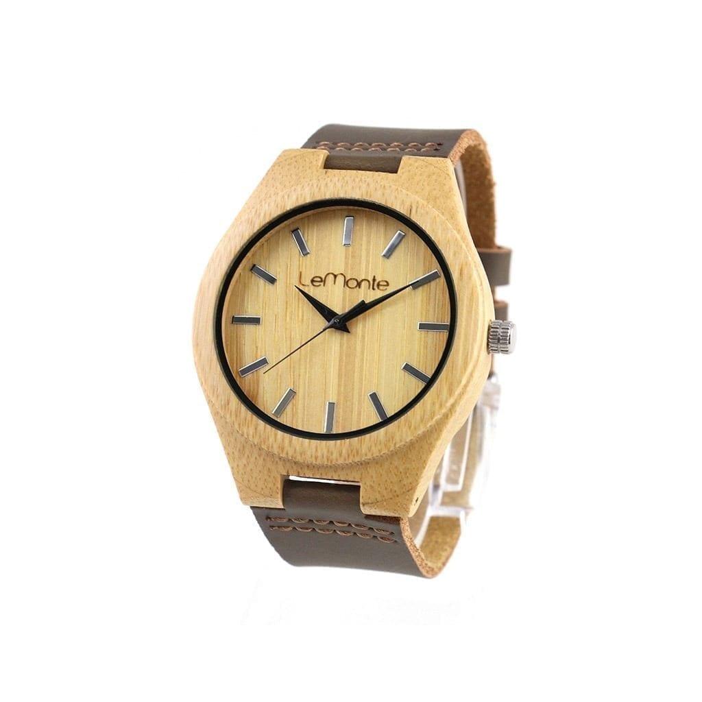 Reloj de bambú