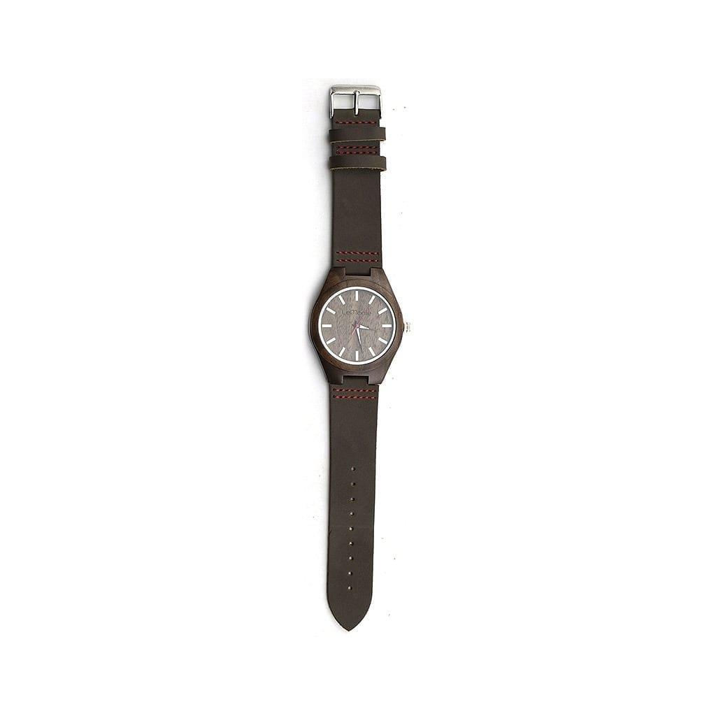 Reloj de madera Brown Walnut