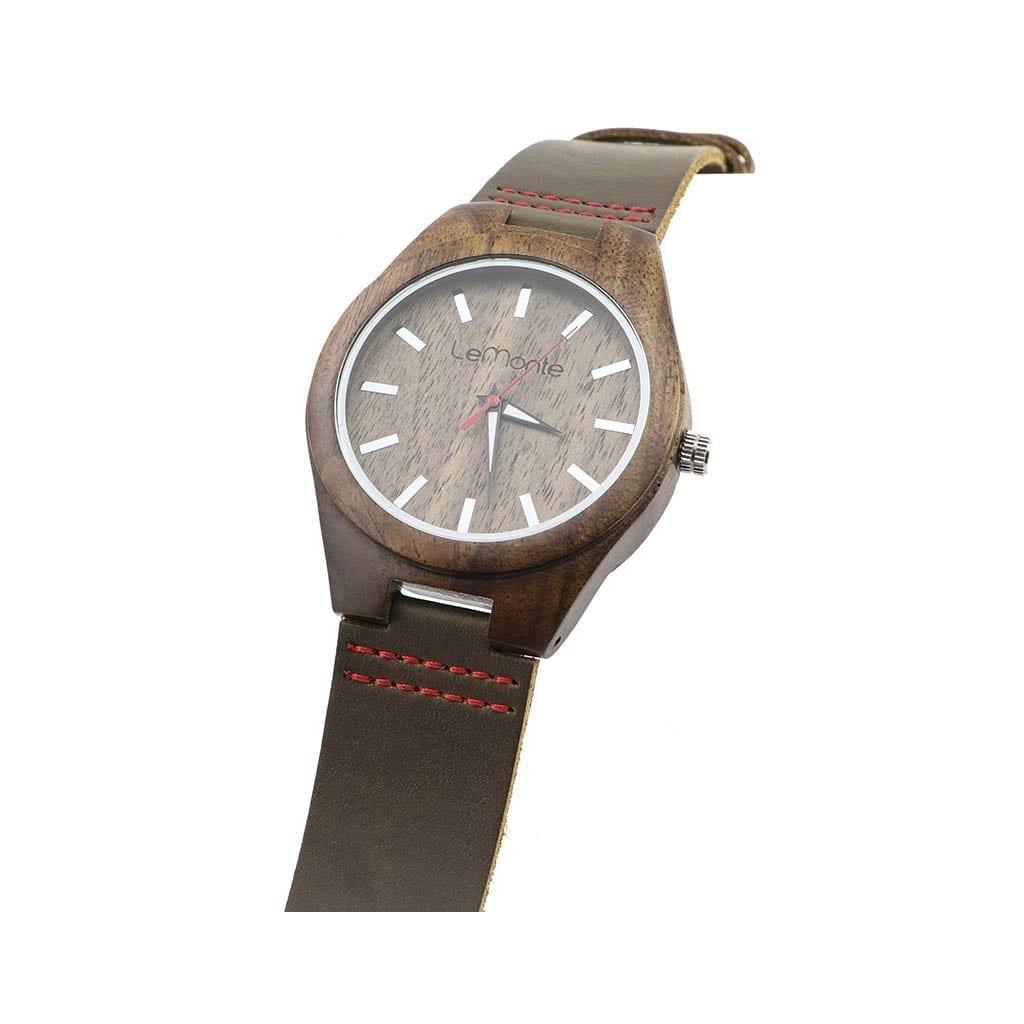 Reloj madera brown walnut