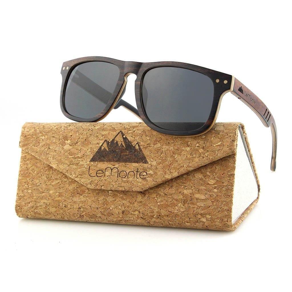 Gafas de madera hombre