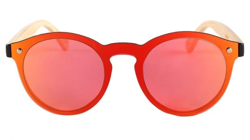 gafas de sol con patillas de madera
