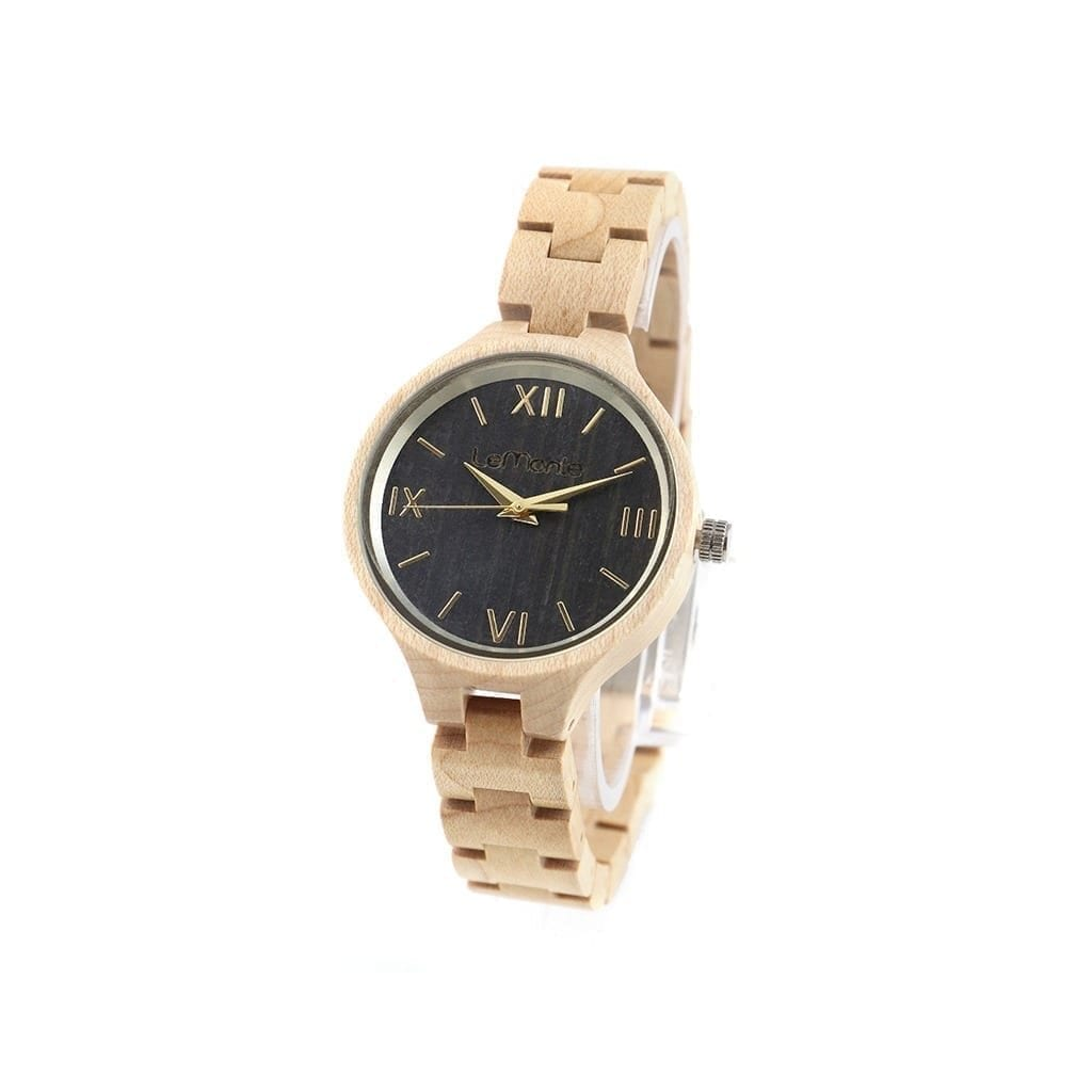 Reloj correa de madera mujer