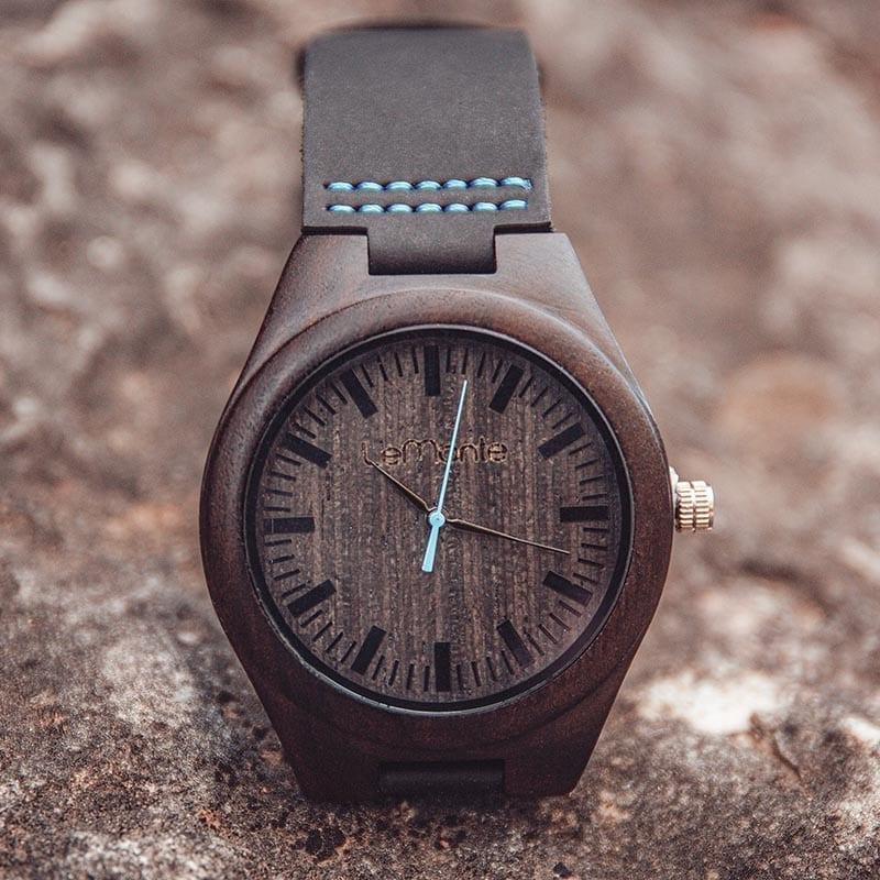 Reloj de madera Fuji