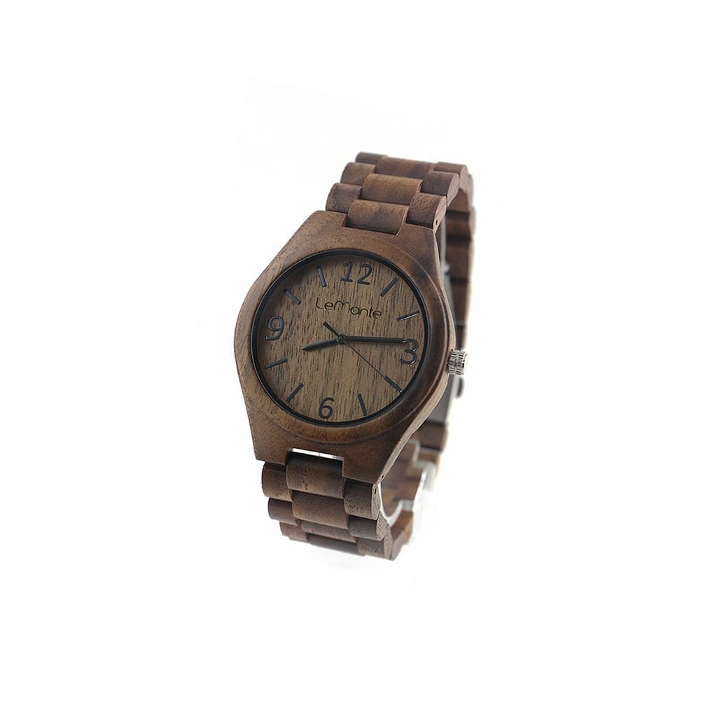 Wood watch for man