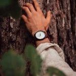 Reloj madera metal Lemonte