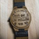 Wood watch engraving