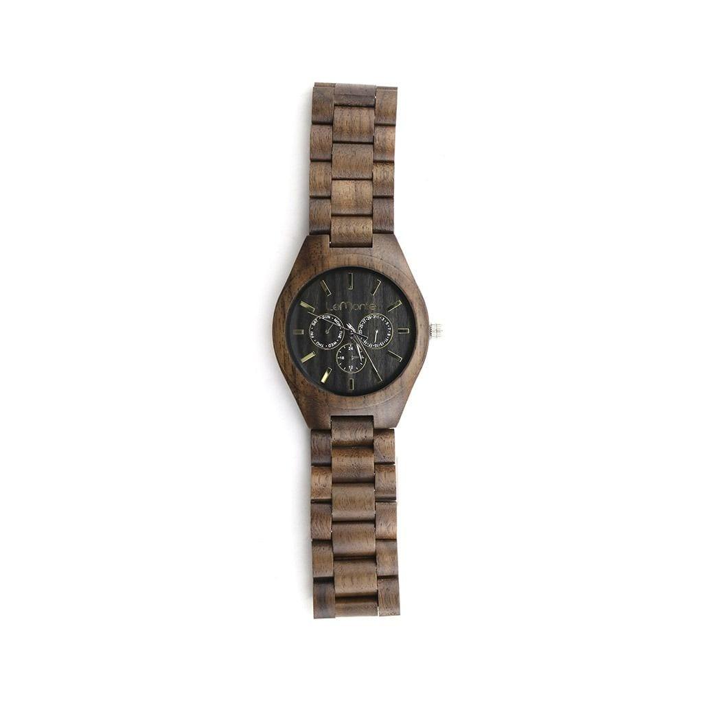 Reloj de madera con cronografo