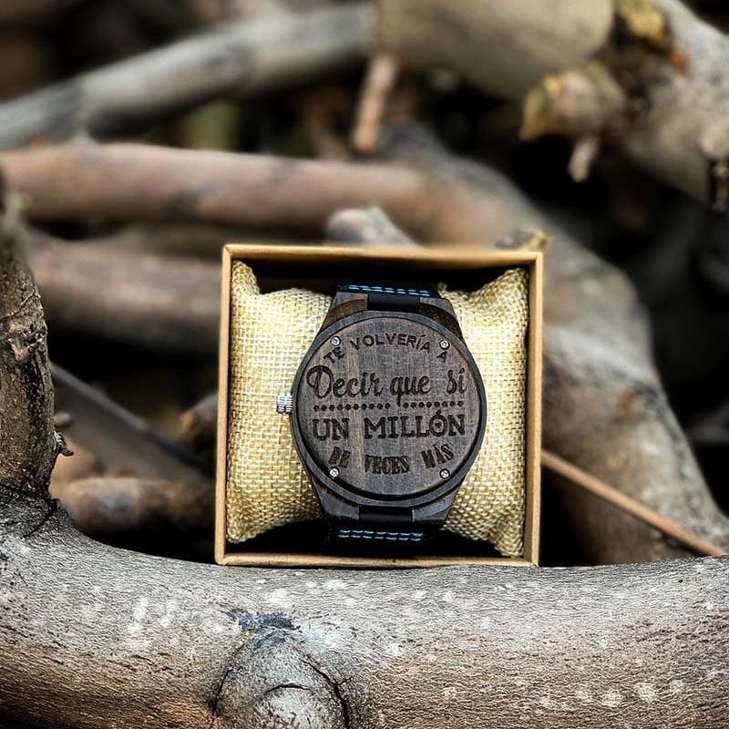 Reloj de madera para personalizar
