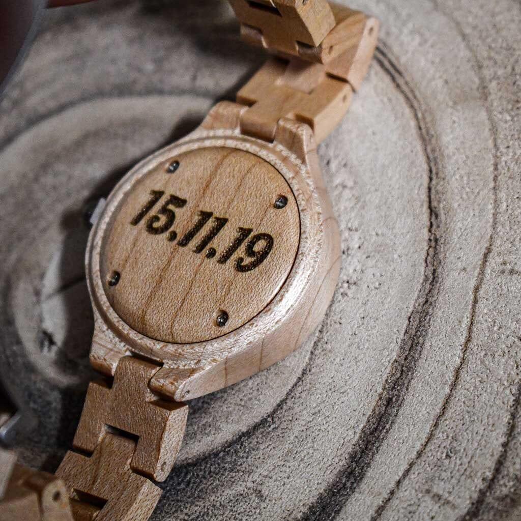 Reloj pulsera madera personalizado