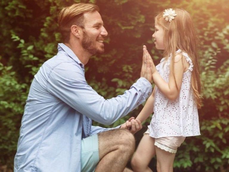 Padre e hija el día del padre