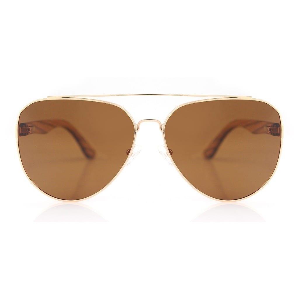 Gafas de aviador madera
