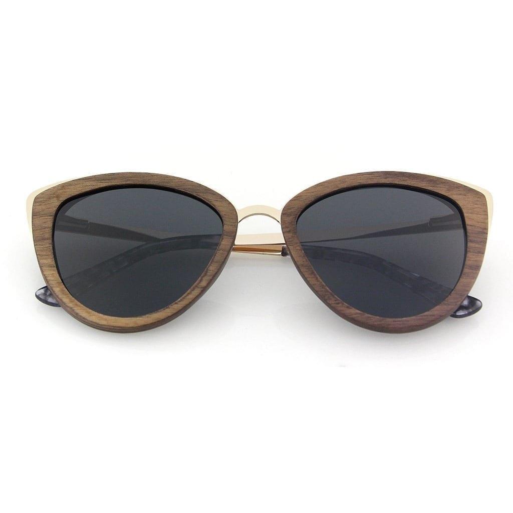 Gafas de madera para mujer