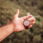 Reloj de madera Dark Walnut