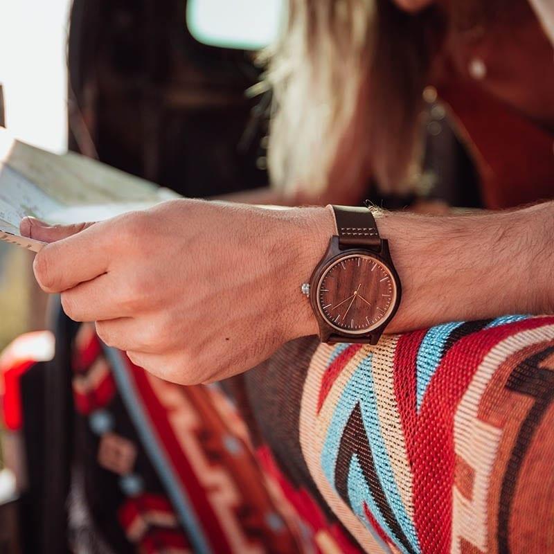 Reloj personalizable de madera