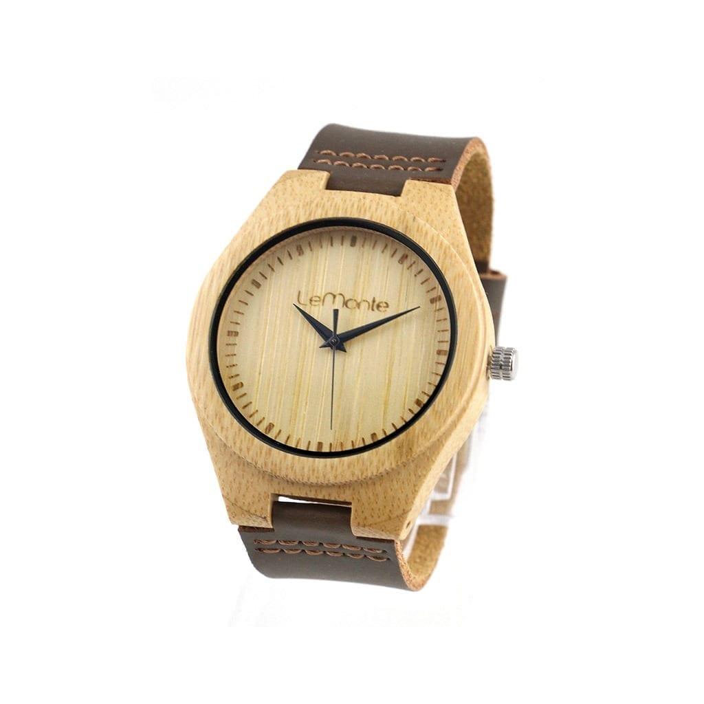 Reloj de bambú modelo Devana