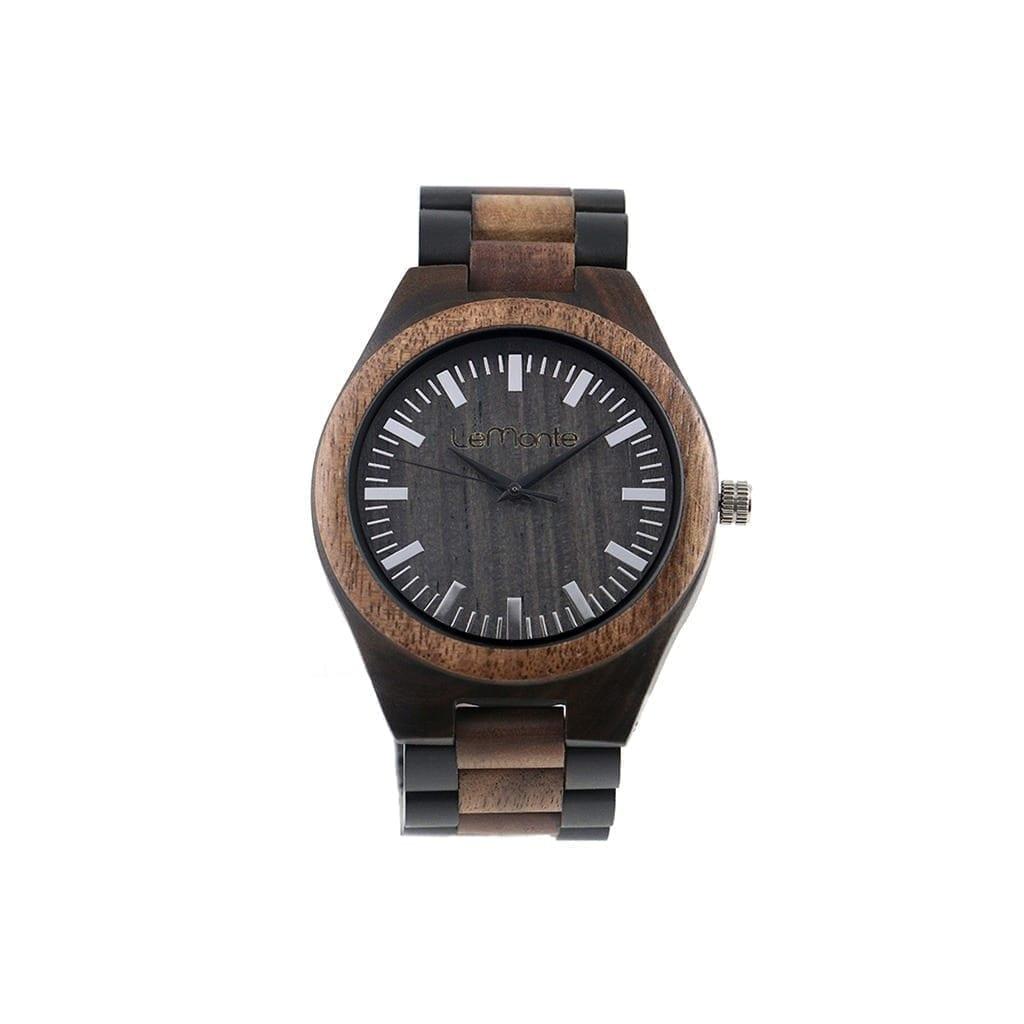 Reloj con correa madera