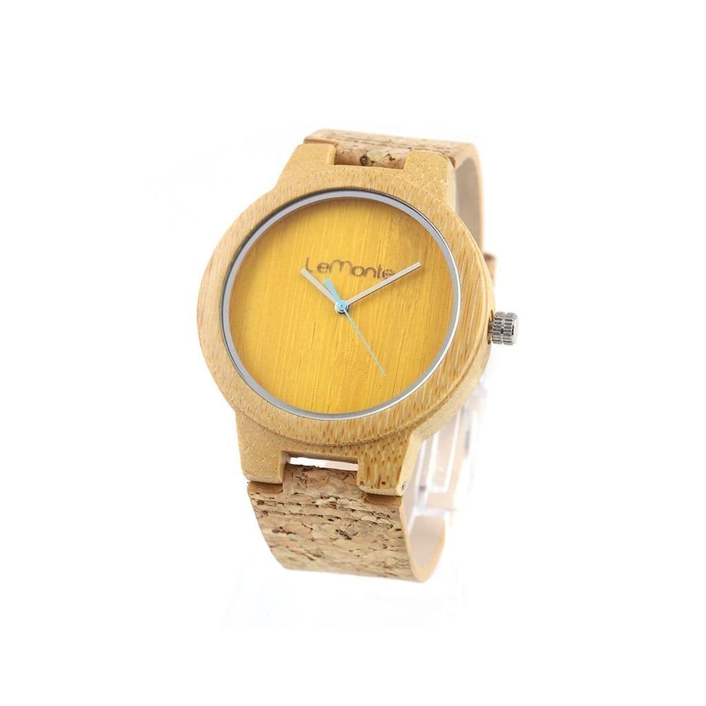 Reloj de Bambú con correa de corcho Atlas