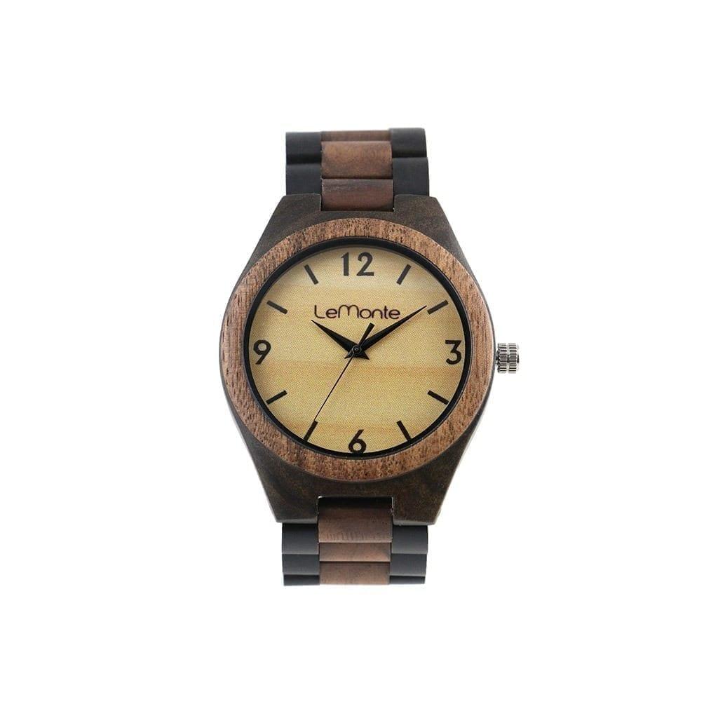 Reloj correa madera articulado
