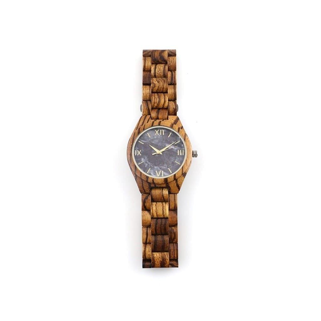 Reloj correa de madera y mármol Conway
