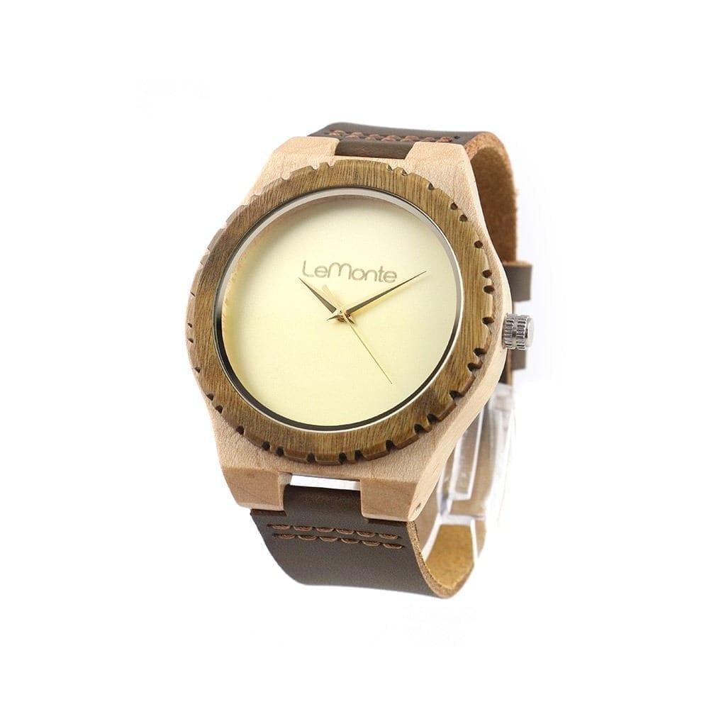Reloj de madera Hazelnut