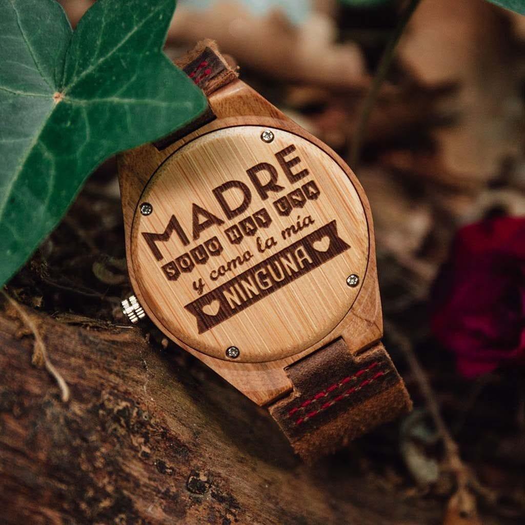 Reloj de madera personalizable Lemontee
