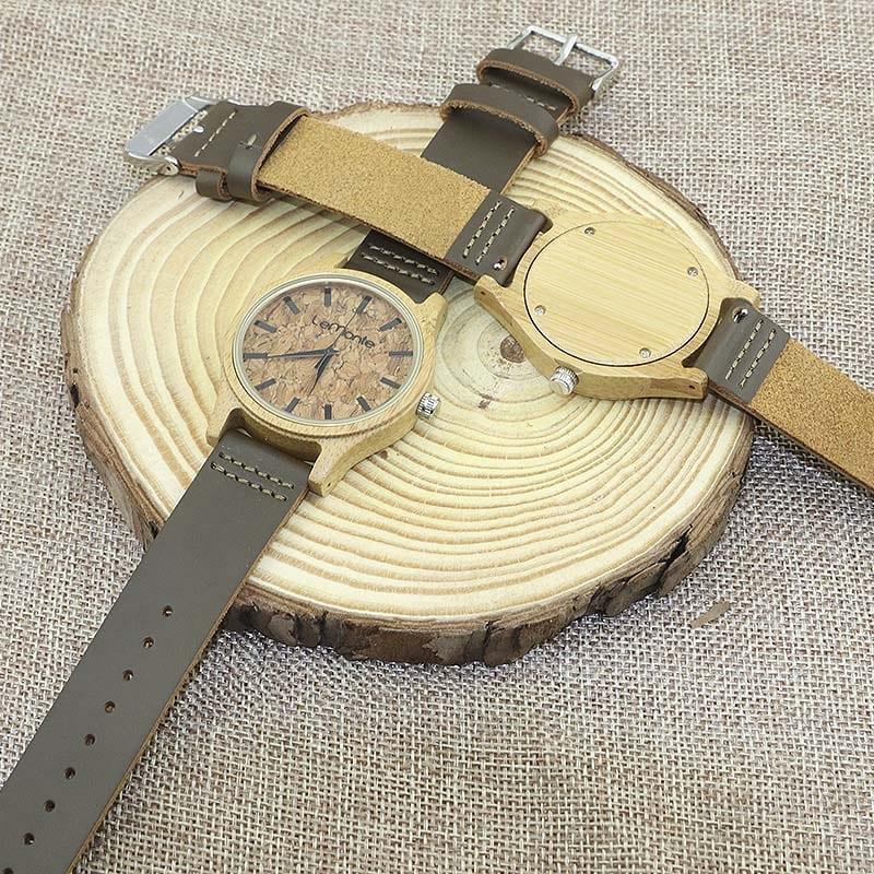 Reloj de madera y corcho Lemonte