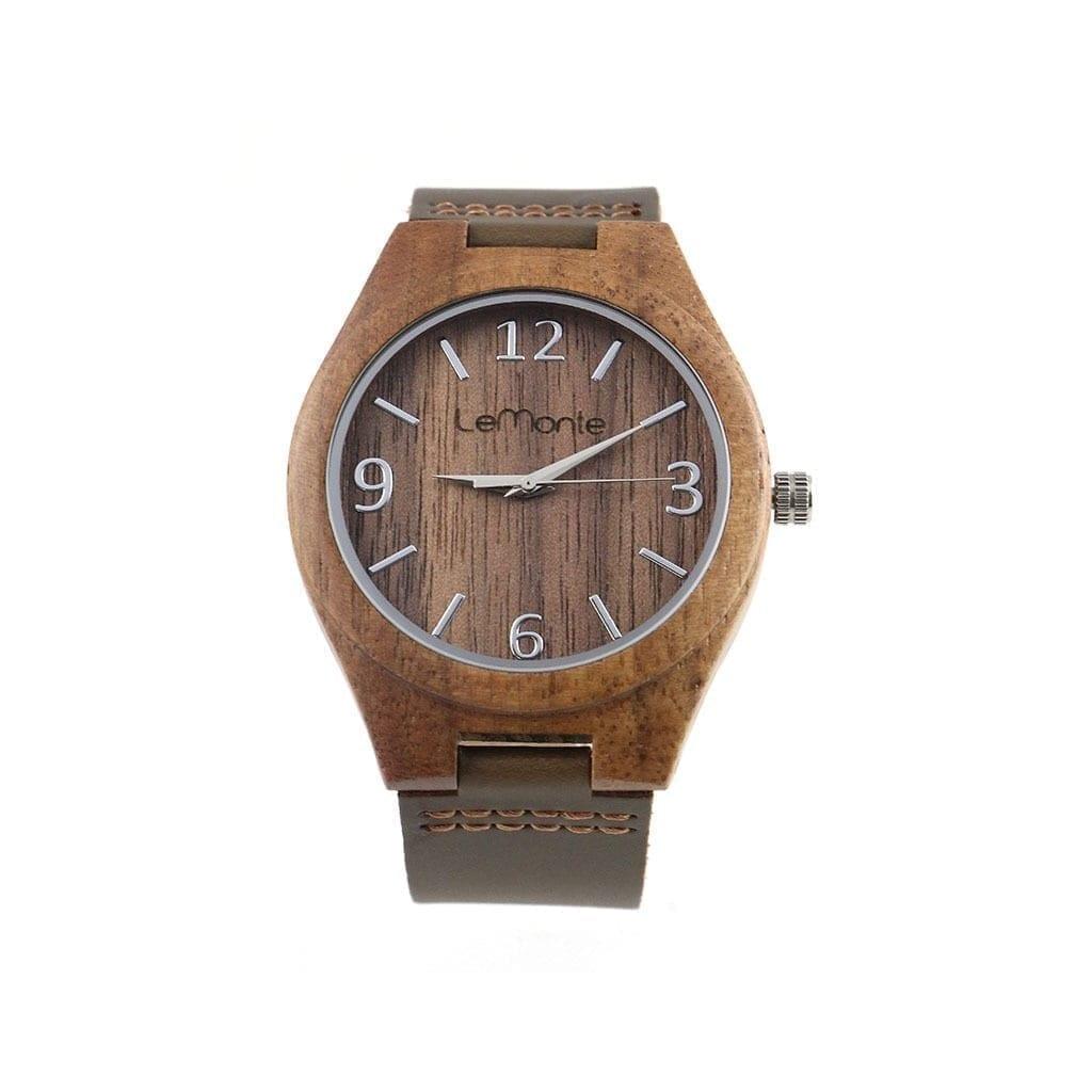 Reloj de madera Cocoa Walnut