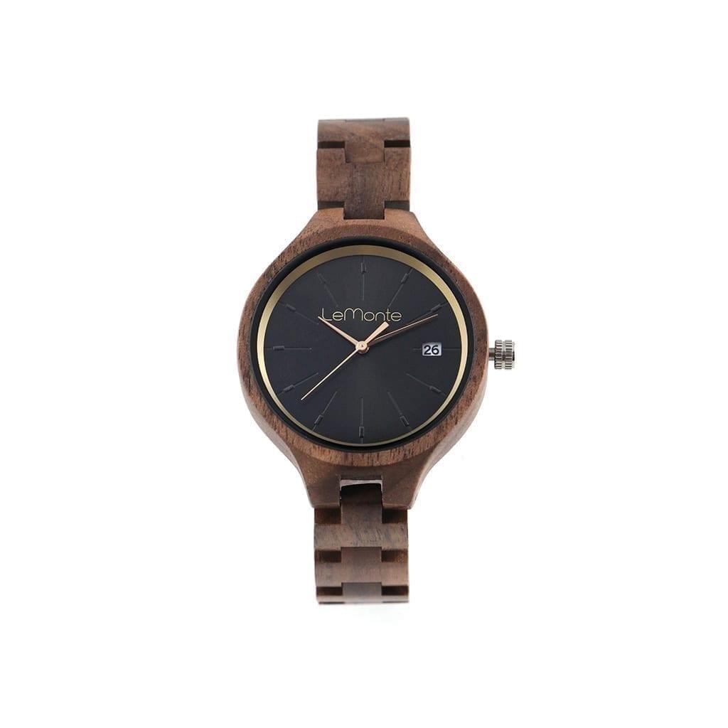 Reloj fabricado con madera