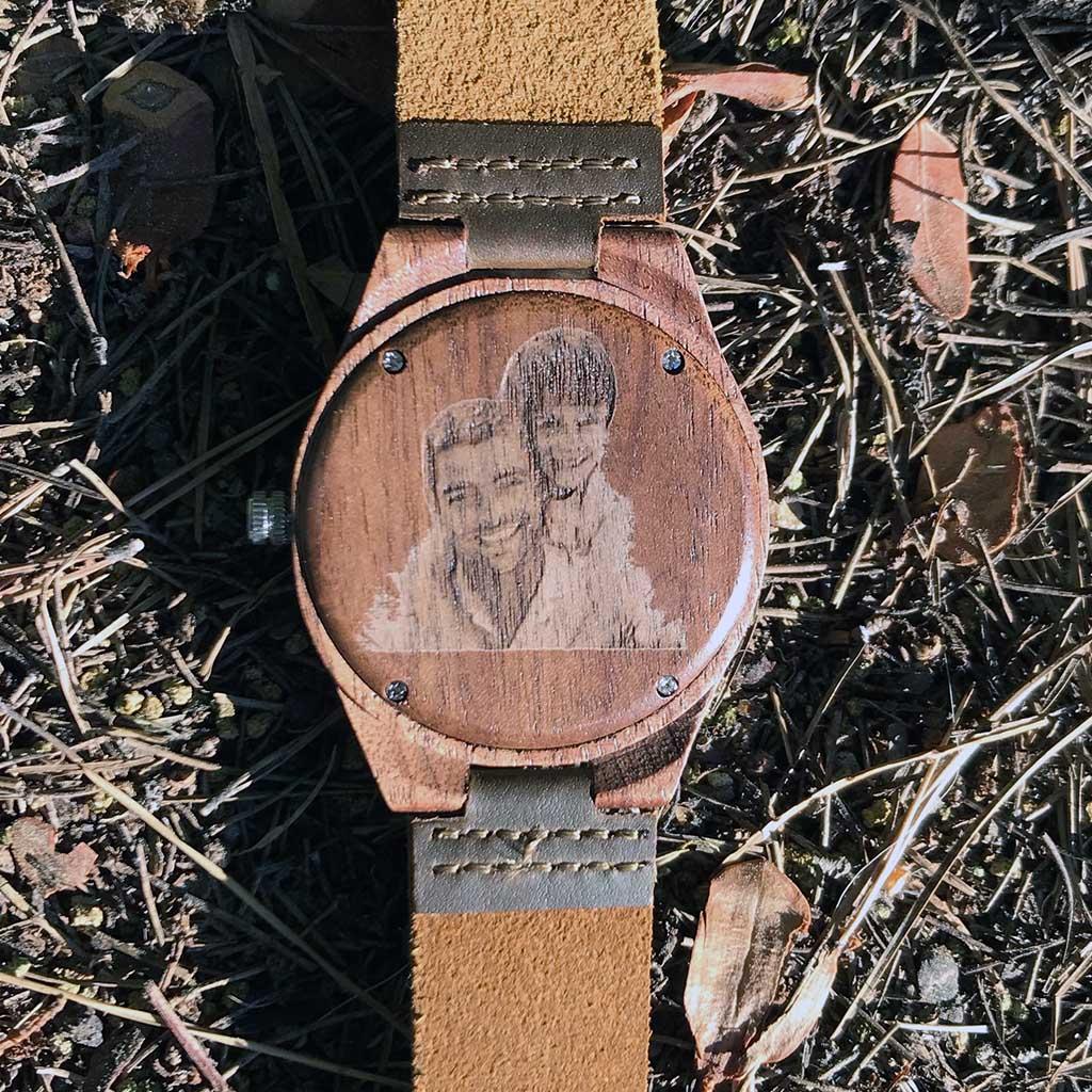 Reloj madera con foto