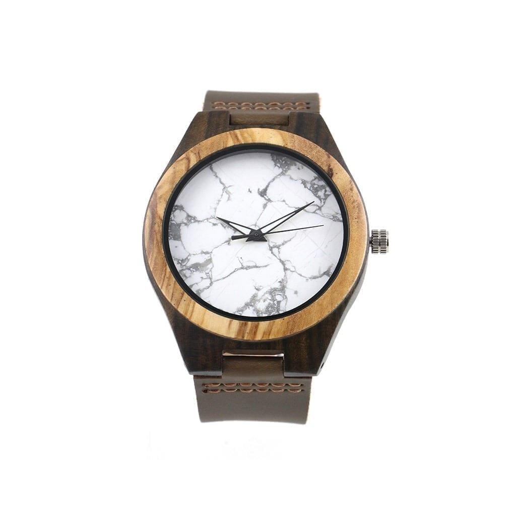 Reloj madera y marmol