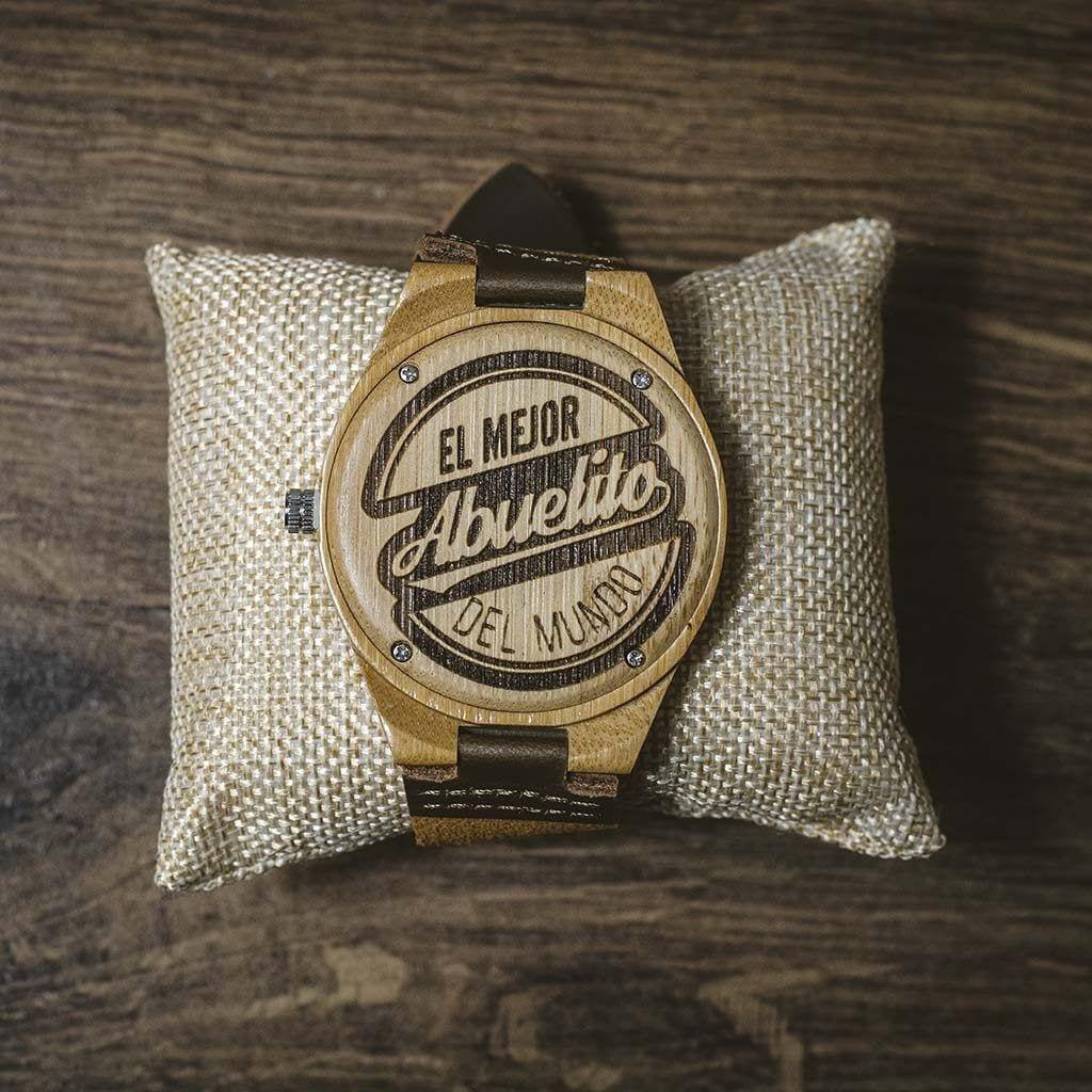 Reloj personalizado madera