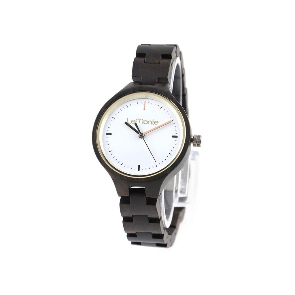 Reloj articulado madera ebano