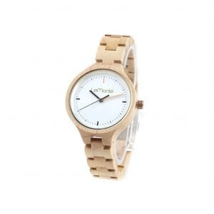 Reloj articulado pulsera de madera