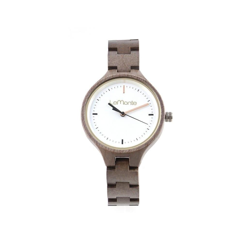 Reloj de madera articulado mujer