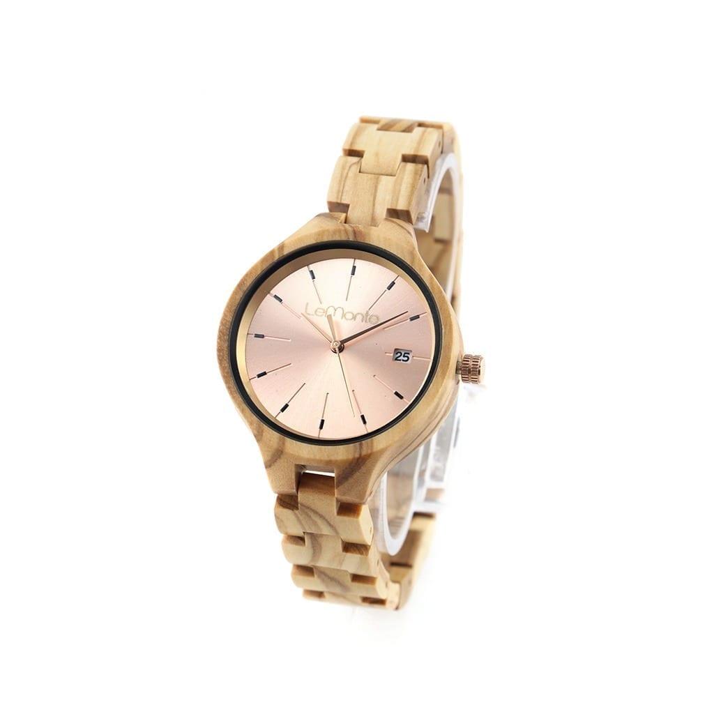 Reloj de madera de mujer lemonte