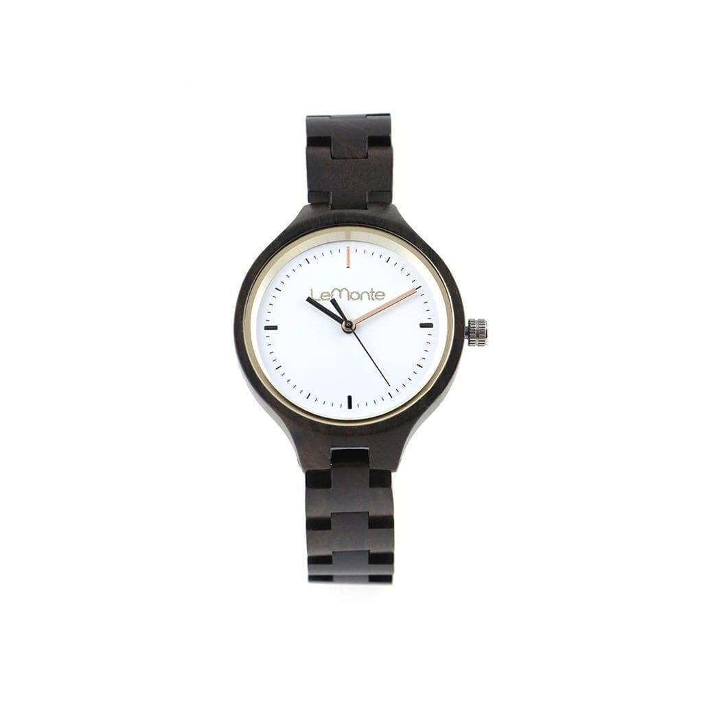 Reloj de madera pulsera articulado
