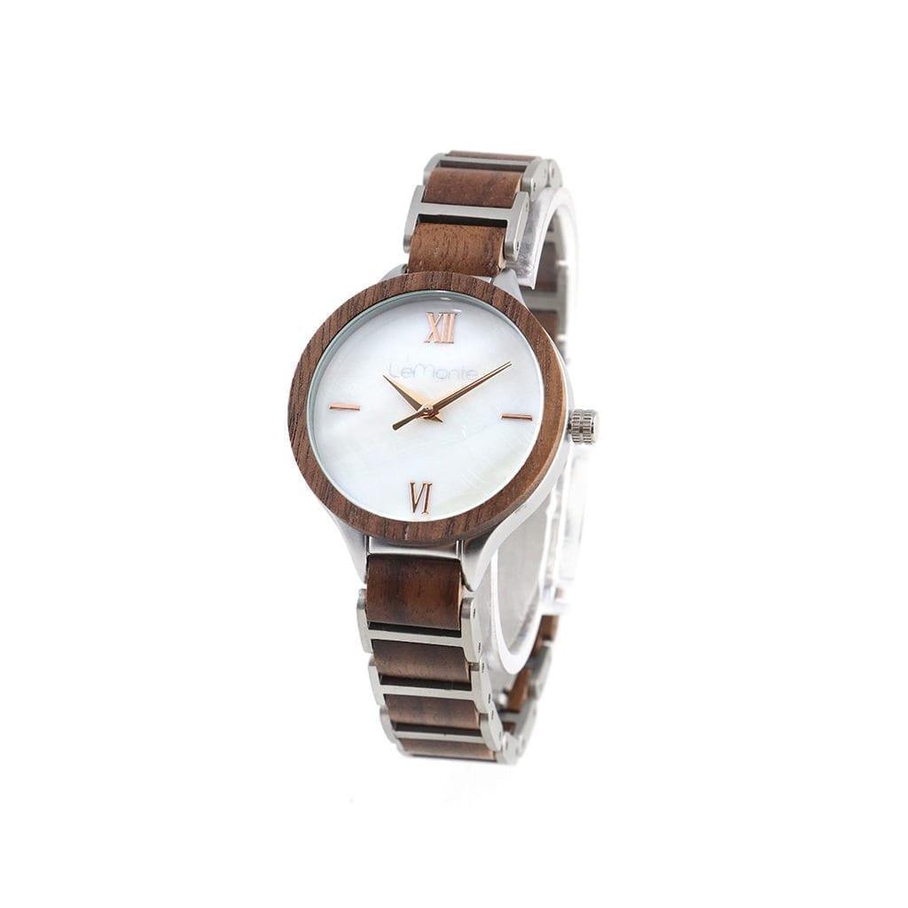 Reloj madera metal