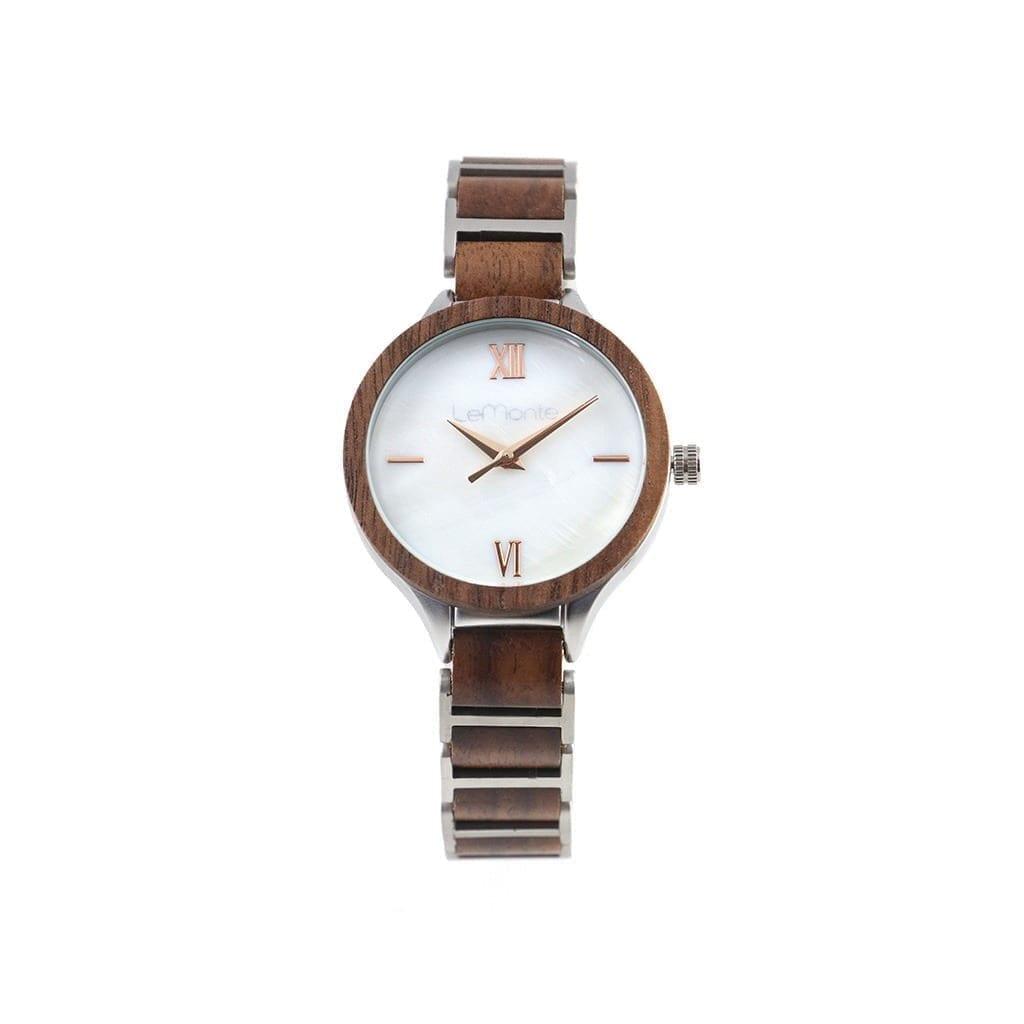 Reloj metal madera