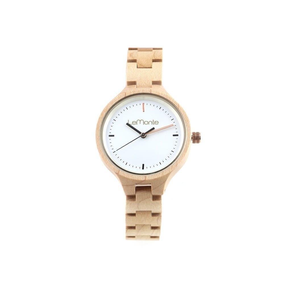 Reloj pulsera articulado madera