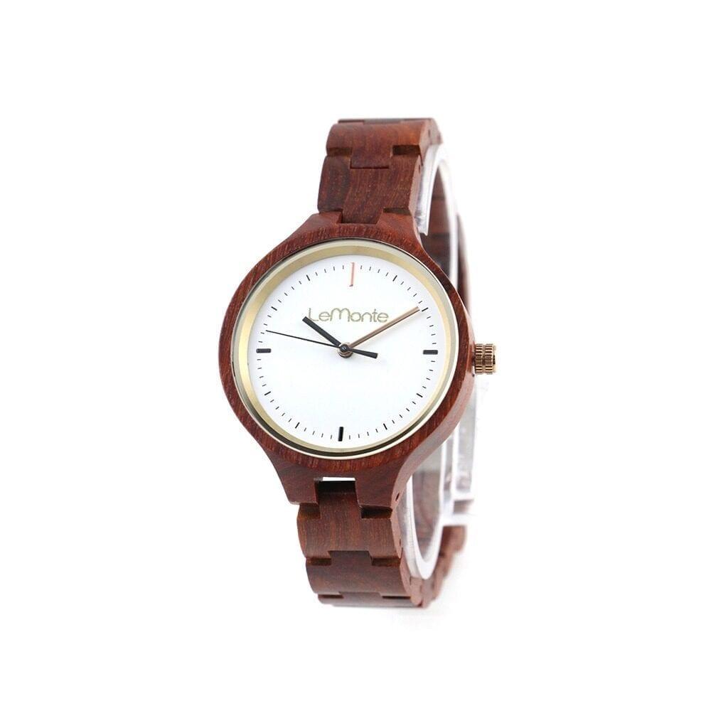 Reloj de correa madera mujer