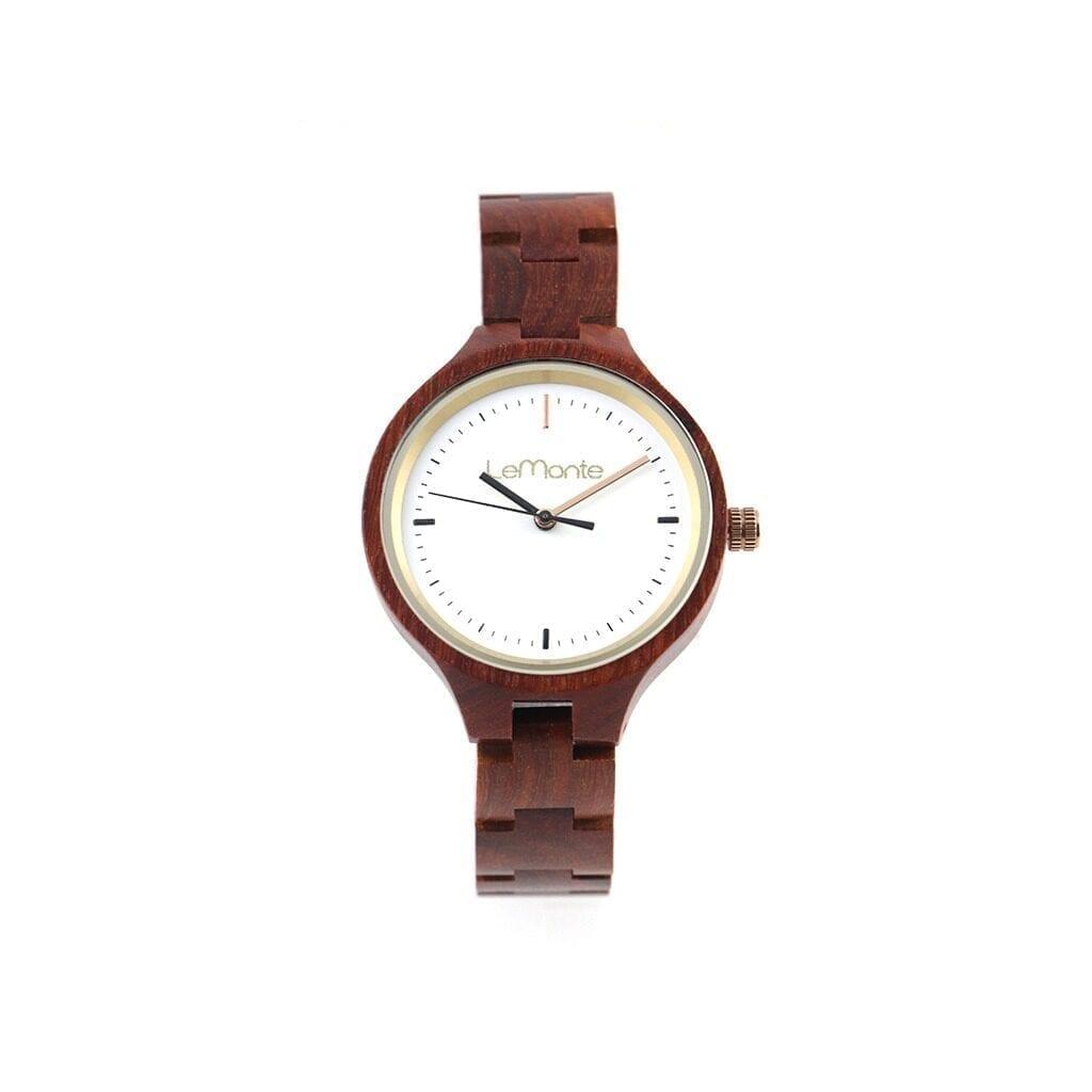 Reloj madera nogal mujer