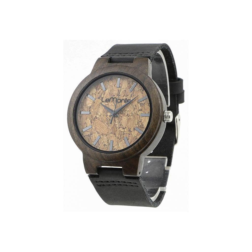Reloj corcho y madera lemonte