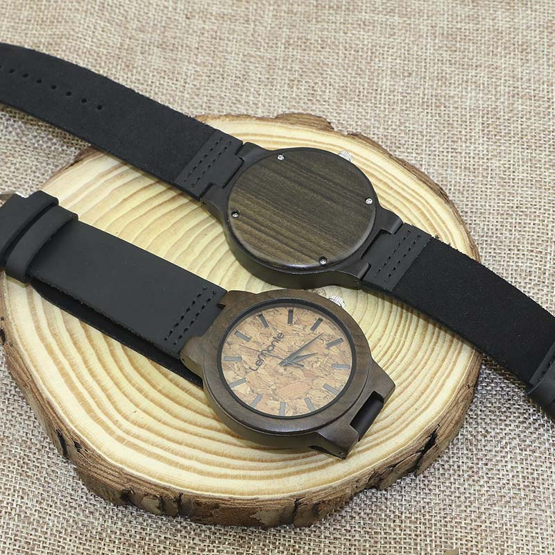 Reloj de madera corcho