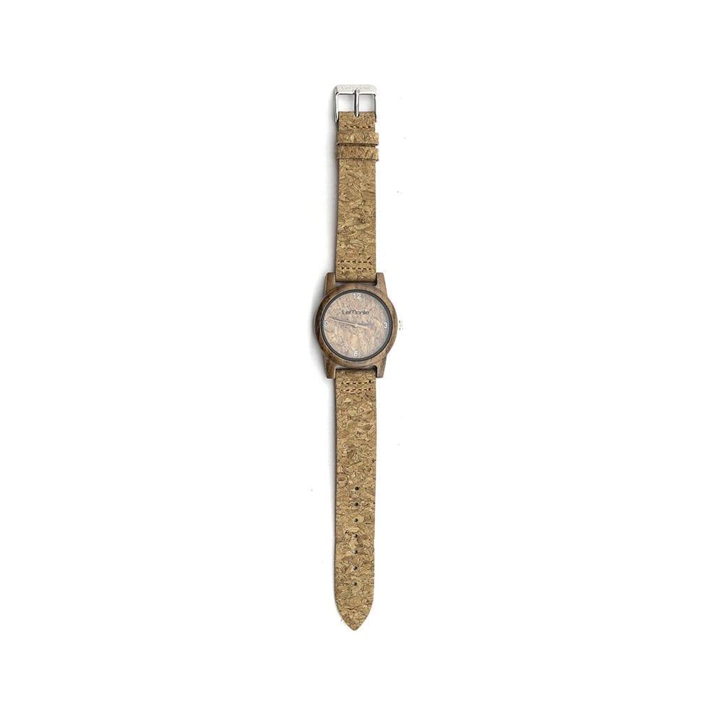 Reloj madera con corcho