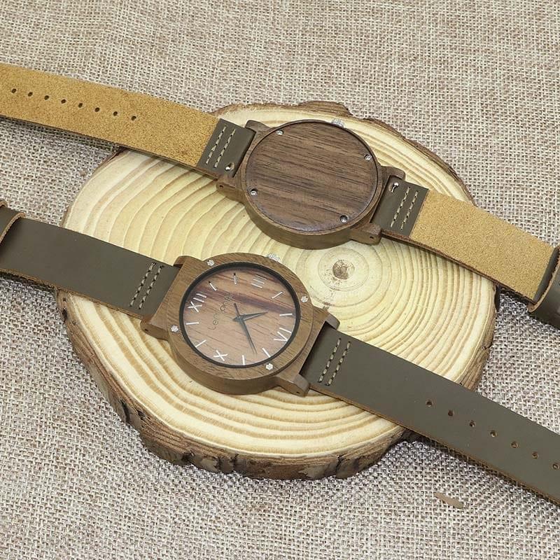 Reloj madera de nogal