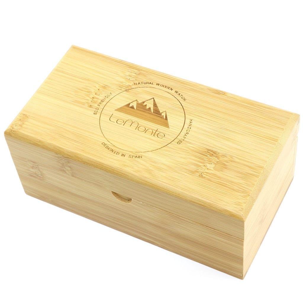 Caja de madera para dos relojes