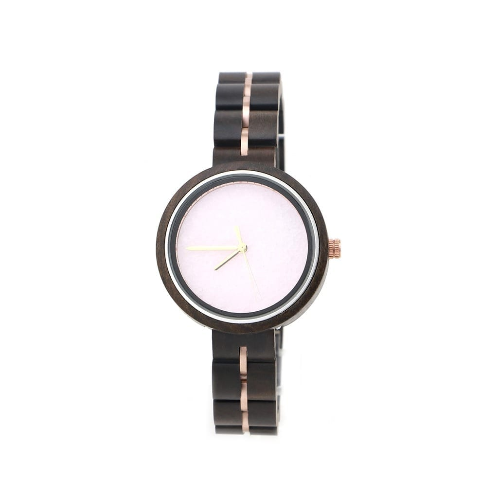 Reloj de madera de mujer articulado