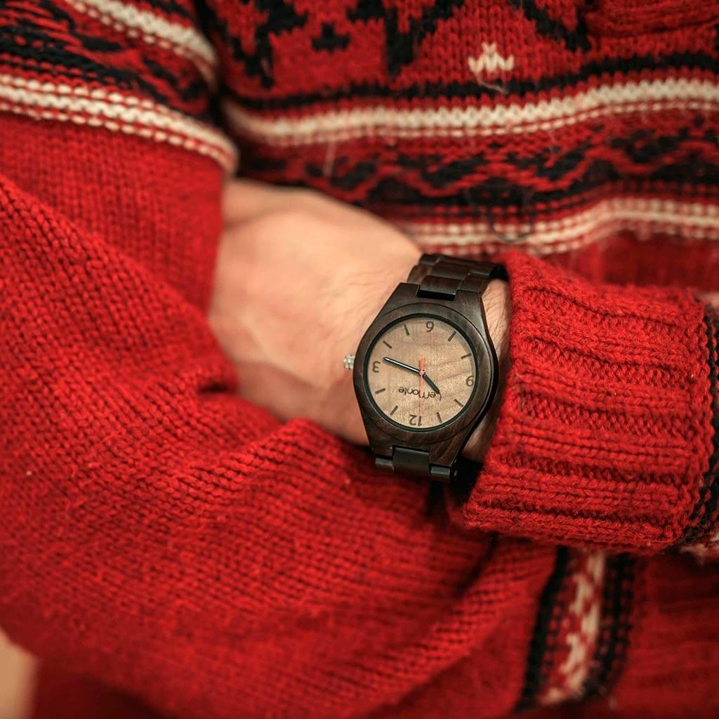 Reloj de madera de muñeca hombre