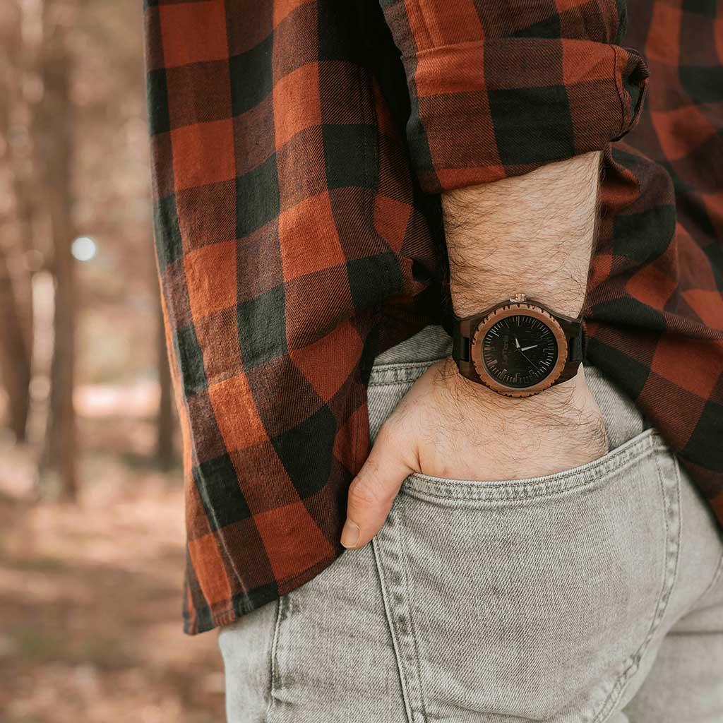 Reloj de madera para hombre
